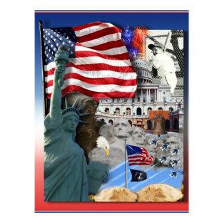 USA American Symbols Post Card