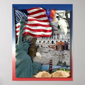 USA  American Symbols Poster