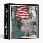 USA  American Symbols Vinyl Binders