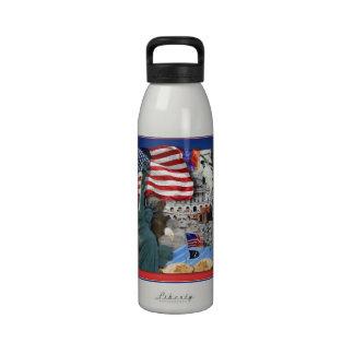 USA American Symbols Reusable Water Bottle