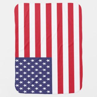 USA American United States Patriotic Flag Swaddle Blanket