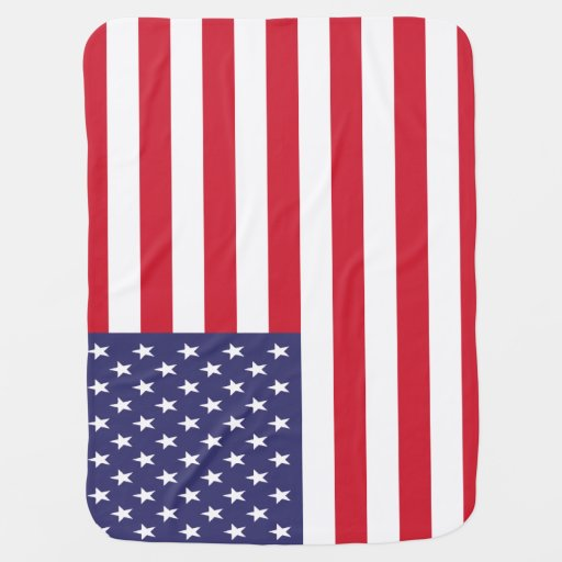 USA American United States Patriotic Flag Swaddle Blankets