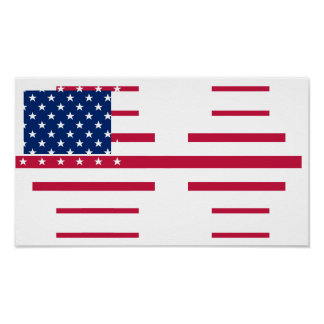 USA American US Flag Home Office Room Wall Poster