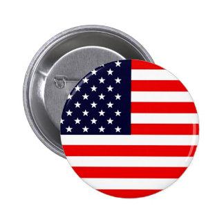 USA AMERICAN US FLAG Series Pinback Button