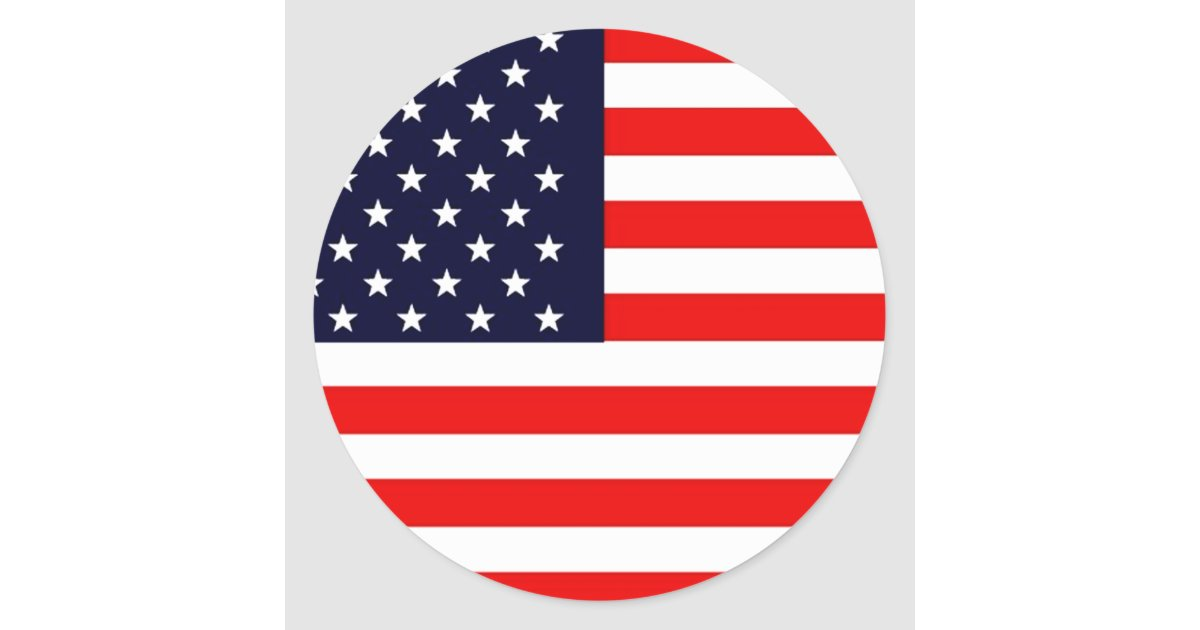Usa american us flag series classic round sticker zazzle for American classic usa