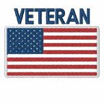 USA American Veteran Patriotic Flag Embroidered Shirt