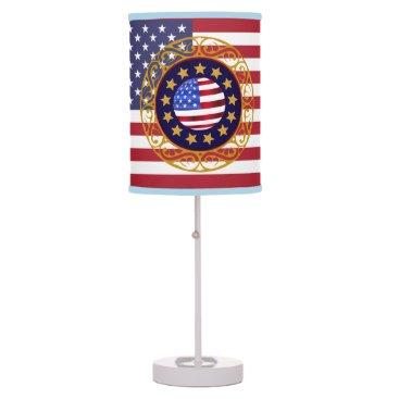 USA Themed USA Americana Monogram Table Lamp
