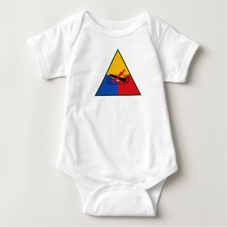 USA AMRY Armored Infantry Division Baby Bodysuit