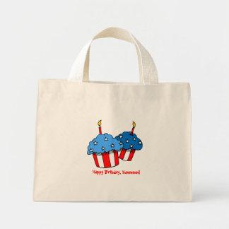 USA-An American Cupcake Birthday Canvas Bags