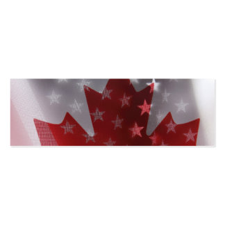 USA and Canada flags bookmark Business Cards