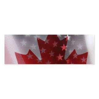 USA and Canada flags bookmark Mini Business Card
