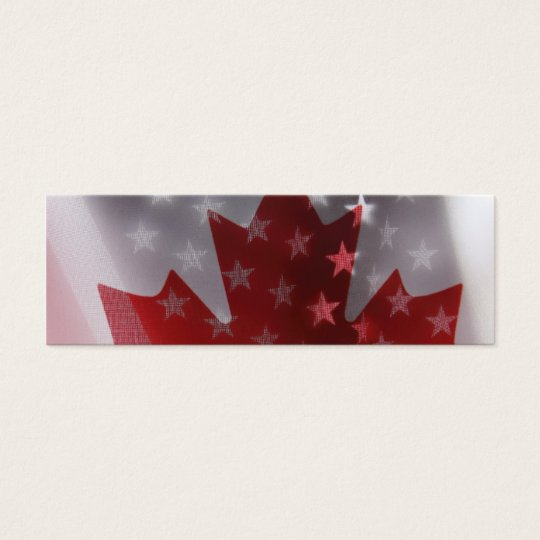 USA and Canada flags bookmark Mini Business Card