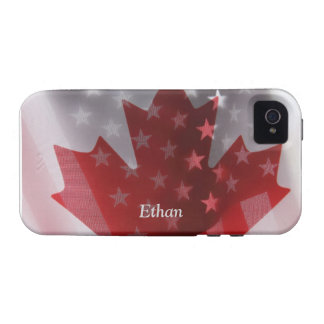 USA and Canada flags iPhone 4 Vibe case Case-Mate iPhone 4 Case