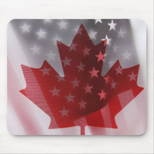 USA and Canada flags mousepad