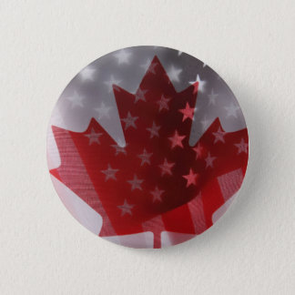 USA and Canada flags round button