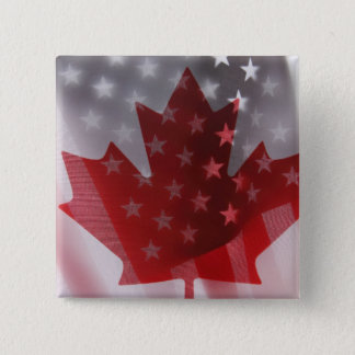 USA and Canada flags square button