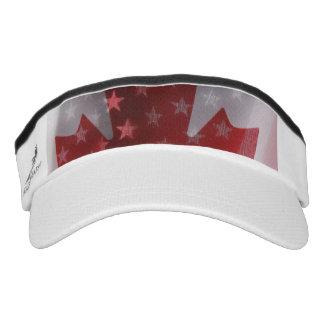 USA and Canada flags Visor