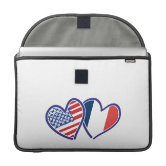 USA and France Love Hearts Sleeves For MacBooks