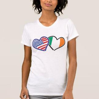 USA and Ireland LOVE HEarts Tees