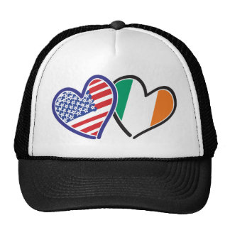 USA And Ireland Patriotic Love Hearts Hat