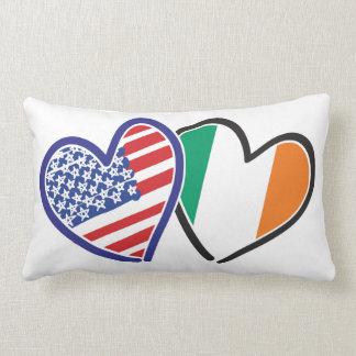 USA And Ireland Patriotic Love Hearts Pillows