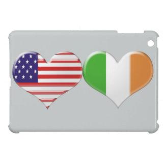 USA and Irish Heart Flags Cover For The iPad Mini