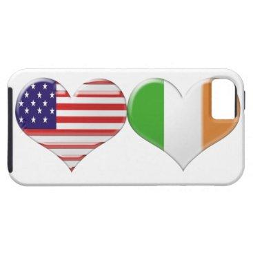 ckeenart USA and Irish Heart Flags iPhone SE/5/5s Case