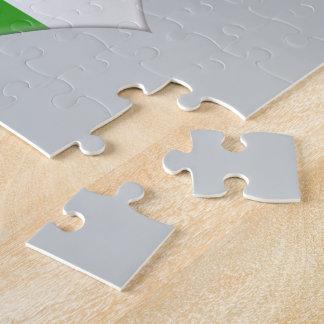 USA and Irish Heart Flags Jigsaw Puzzle