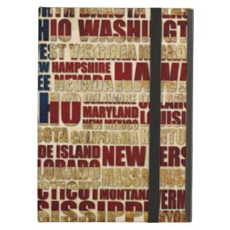 USA and its states in Stars and Stripes Case For iPad Air