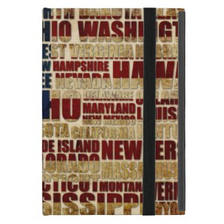 USA and its states in Stars and Stripes Case For iPad Mini