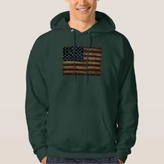 USA and its states in Stars and Stripes Hoodie