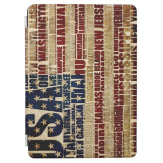 USA and its states in Stars and Stripes iPad Air Cover