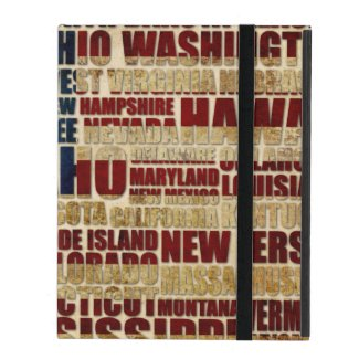 USA and its states in Stars and Stripes iPad Case