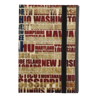 USA and its states in Stars and Stripes iPad Mini 4 Case
