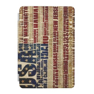 USA and its states in Stars and Stripes iPad Mini Cover