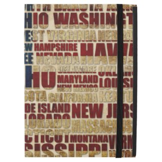 """USA and its states in Stars and Stripes iPad Pro 12.9"""" Case"""