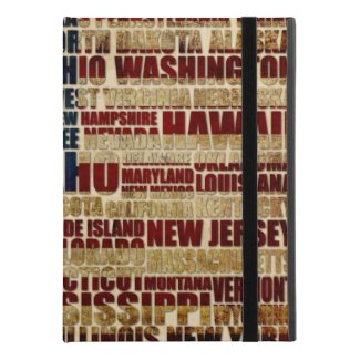 """USA and its states in Stars and Stripes iPad Pro 9.7"""" Case"""