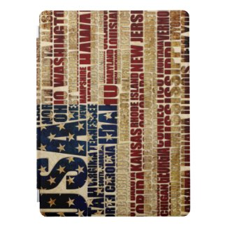USA and its states in Stars and Stripes iPad Pro Cover