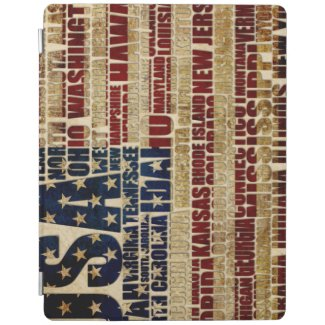 USA and its states in Stars and Stripes iPad Smart Cover