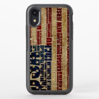 USA and its states in Stars and Stripes OtterBox Symmetry iPhone XR Case