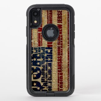 USA and its states in Stars and Stripes OtterBox Commuter iPhone XR Case
