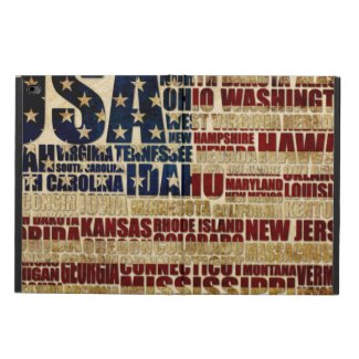 USA and its states in Stars and Stripes Powis iPad Air 2 Case