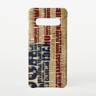 USA and its states in Stars and Stripes Samsung Galaxy S10 Case