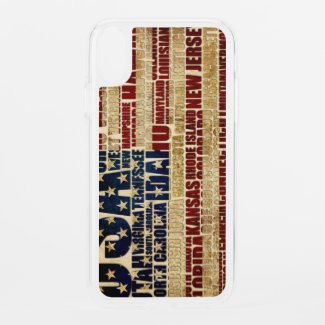 USA and its states in Stars and Stripes iPhone XR Case