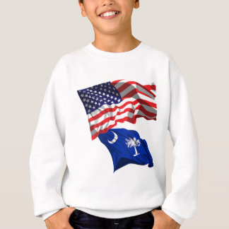 USA and South Carolina Flag Sweatshirt