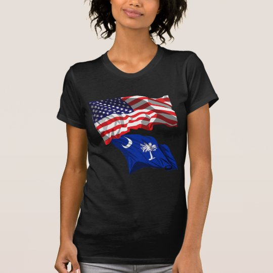 USA and South Carolina Flag T-Shirt