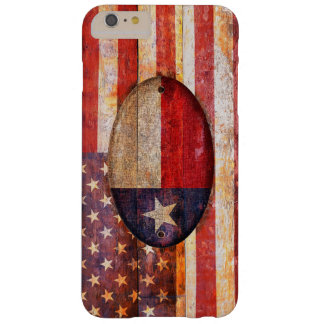 Usa and Texas flag. Funda De iPhone 6 Plus Barely There