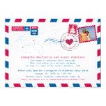 USA and UK Airmail Post Reception 5x7 Paper Invitation Card