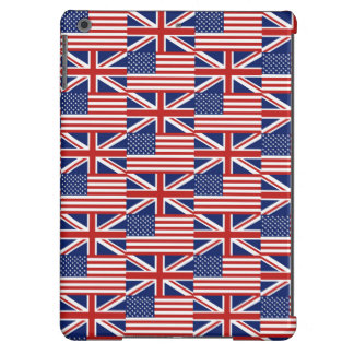 USA and UK Flag Pattern iPad Air Cases