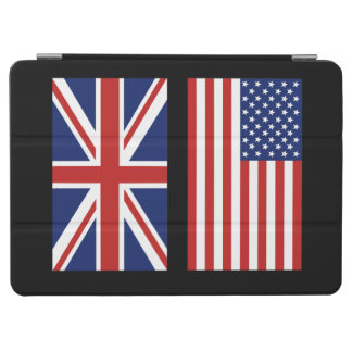 USA and UK Flags. iPad Air Cover